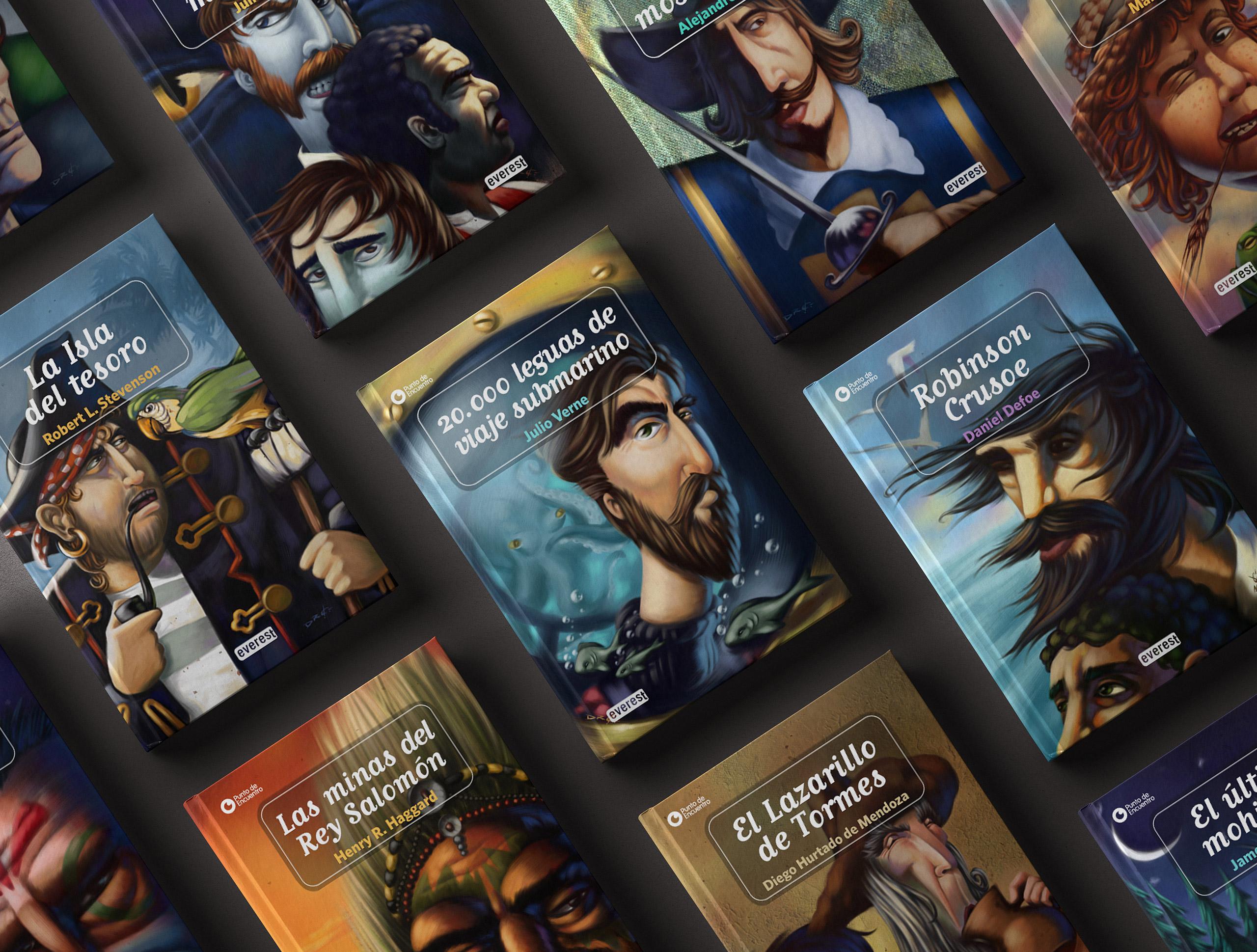 www.davidderamon.com - illustration - everest - book covers