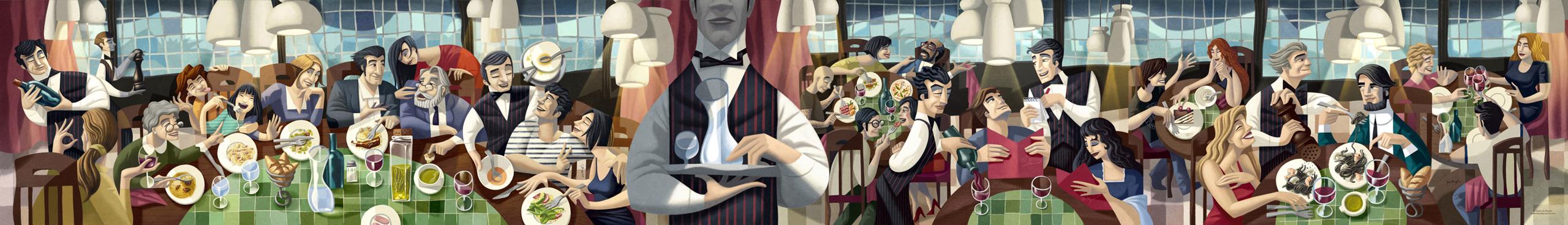 www.davidderamon.com - illustration - da nicola ristorante