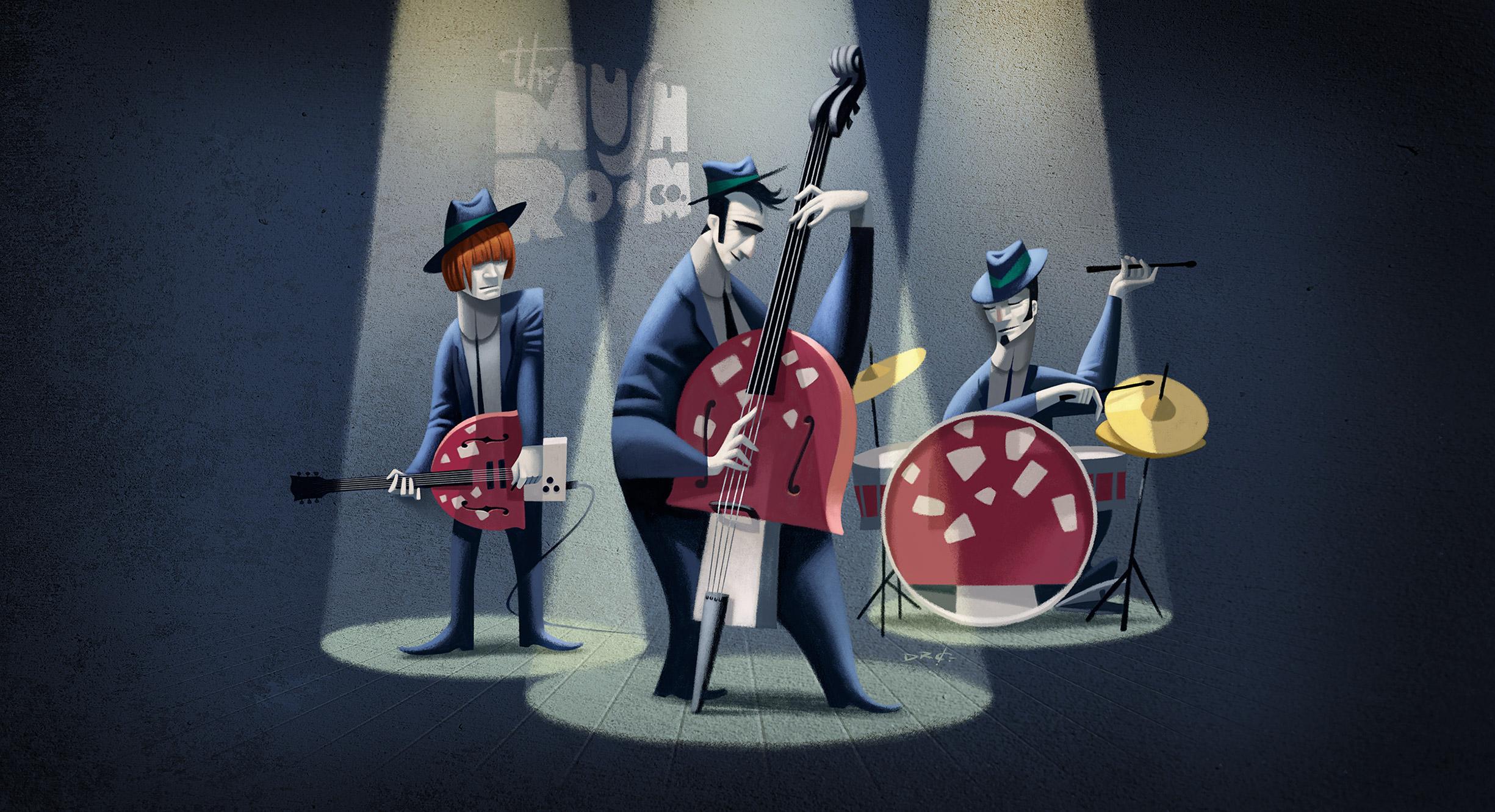 www.davidderamon.com - illustration - jazz