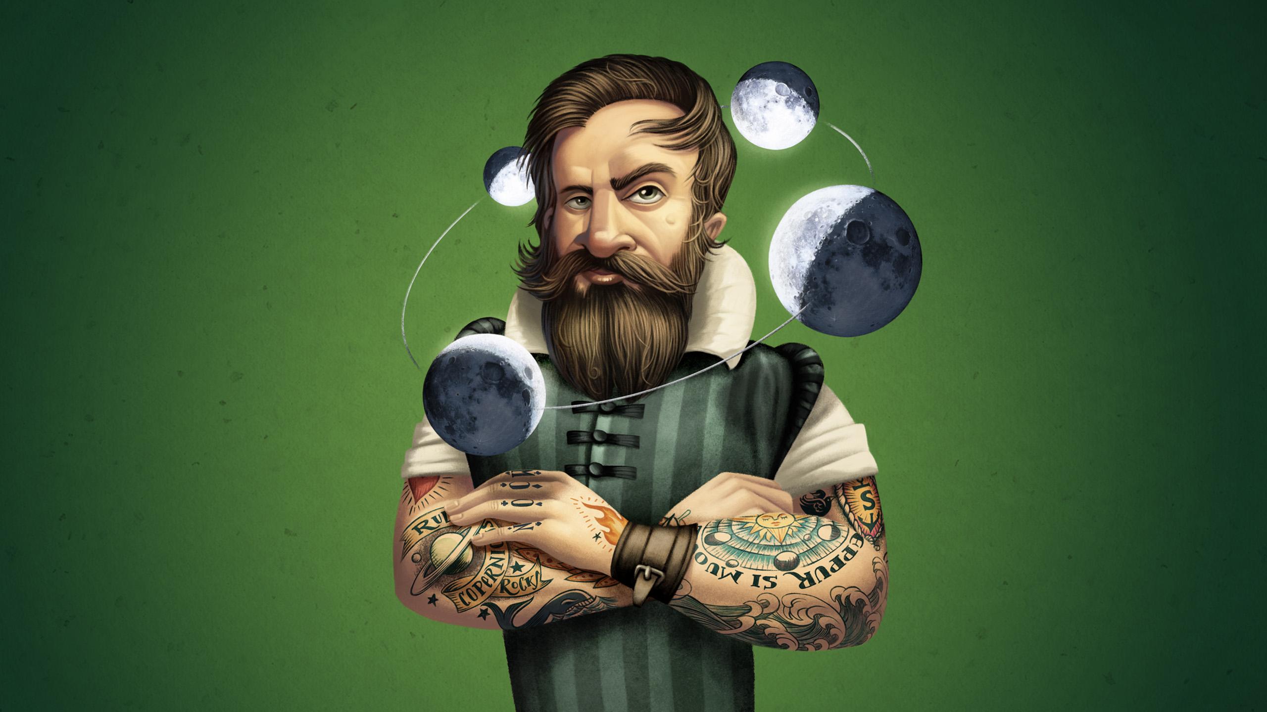 www.davidderamon.com - illustration - young galileo